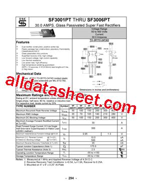Transistor Sf3006pt sf3006pt 데이터시트 pdf taiwan semiconductor company ltd