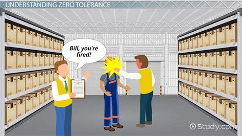 Zero Tolerance Policy In The Workplace Definition Exles Video Lesson Transcript Zero Tolerance Policy In The Workplace Template