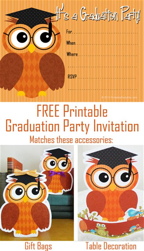 party planning center free printable graduation party