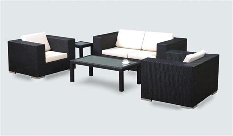 Black Patio Furniture Home Outdoor Black Wicker Patio Furniture