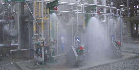 nfpa  water spray fixed system installation