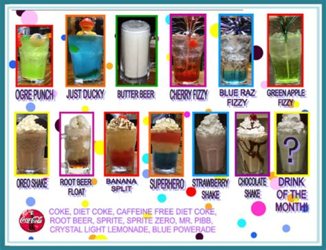 drinks kid drinks menu menu menu and