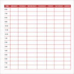 colors schedule impressive daily schedule template and theme paper