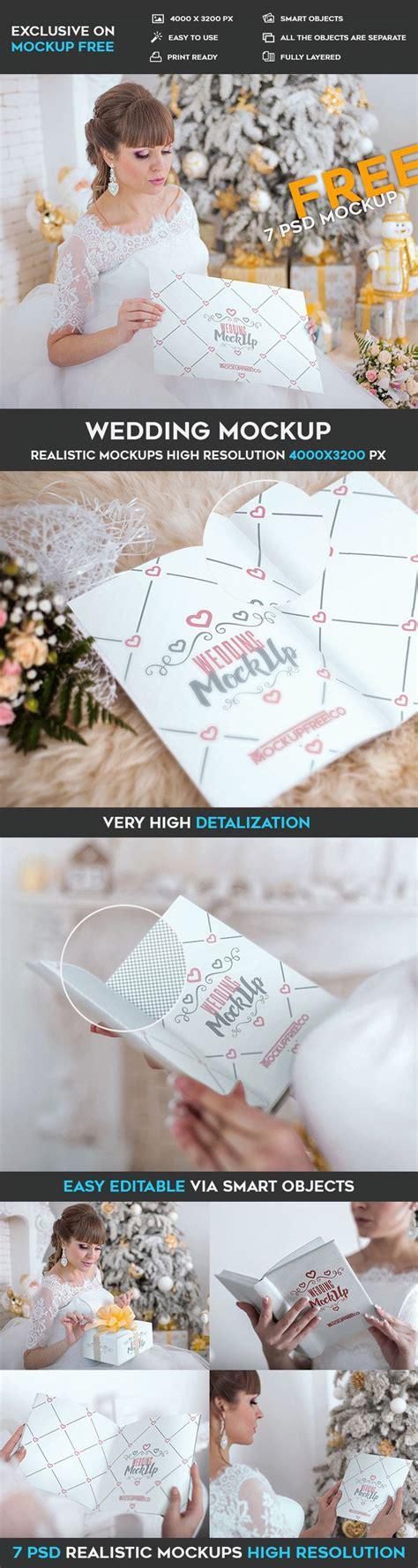 wedding book layout psd wedding invitation poster book 7 free psd mockups