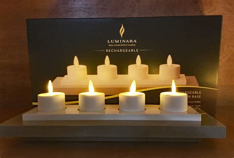 luminara rechargeable tea lights set of 4 with base luminara 10006341 rechargeable tea lights set of 4 with base