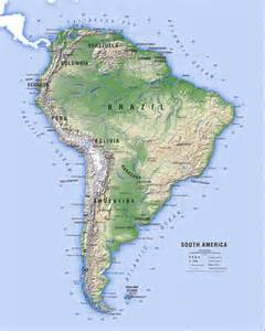 south america map with mountains map illustrations high quality customised maps 3d