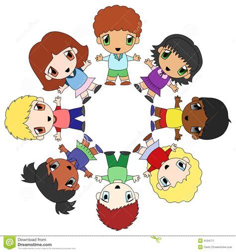 immagini clipart bambini cerchio dei bambini illustrazione vettoriale