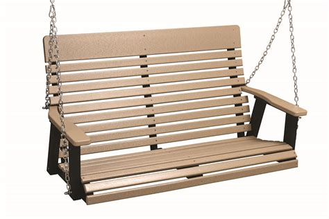 berlin swing berlin gardens 4 casual back poly porch swing from
