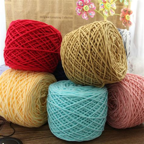 knitting thick yarn wholesale 400g lot merino wool yarn brand cotton knit