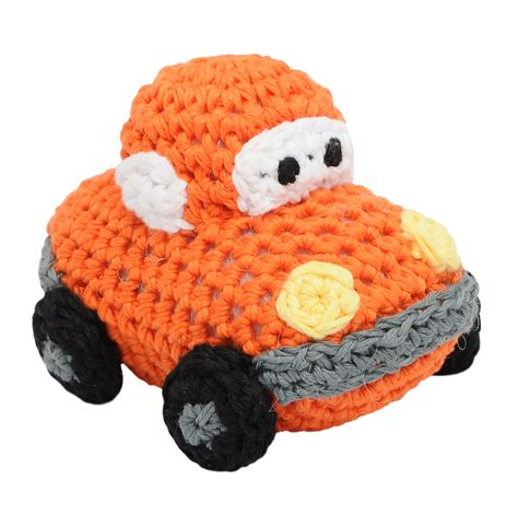 car handmade amigurumi stuffed knit crochet doll