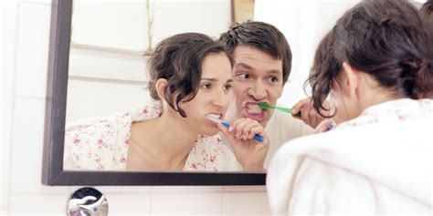 couples in bathroom 9 things every couple experiences when sharing a bathroom
