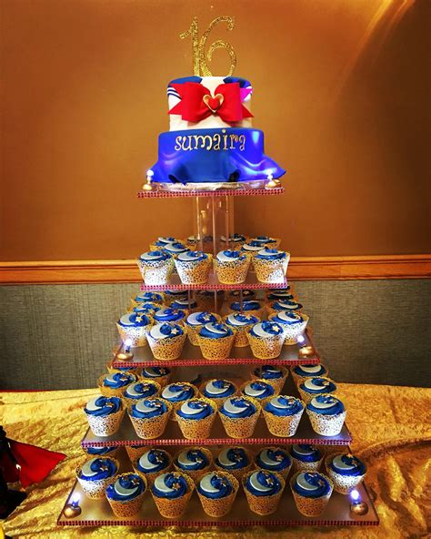 Sailor Sweet sailor moon sweet 16 cake and cupcake tower cakes