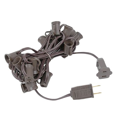 12 5 brown c7 christmas light cords with 25 sockets