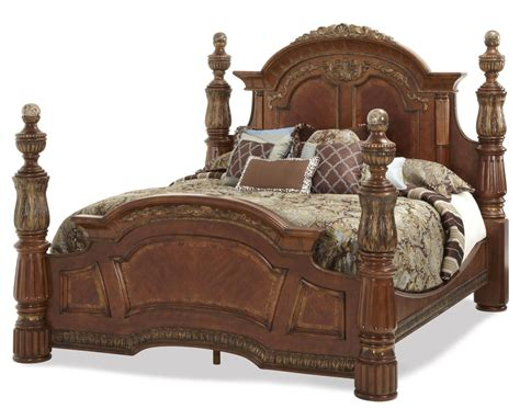 king 4 poster bed traditional california king poster bed michael amini villa