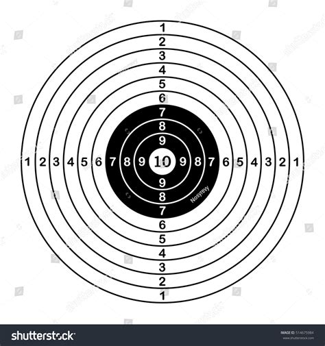 printable competition targets blank target sport shooting competition vector stock