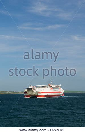 catamaran ferry to orkney catamaran ferry to the orkney islands scotland stock