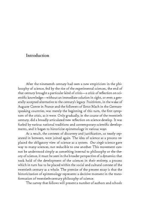 Epistemology Essay by On Historicizing Epistemology An Essay Hans J 246 Rg Rheinberger Translated By David Fernbach
