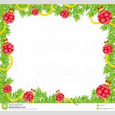 ... of christmas frame made of fir branch and christmas decorations