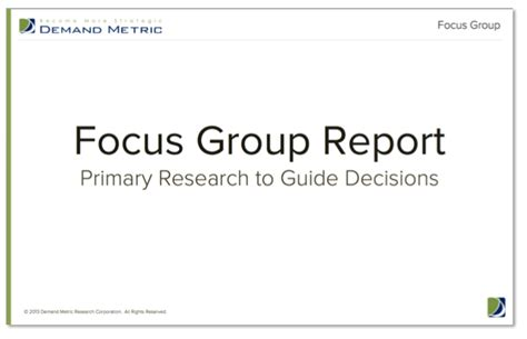 focus discussion report template focus facilitation demand metric
