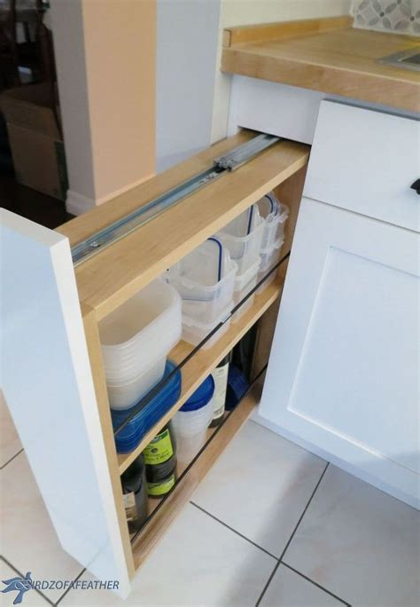 Kitchen Cabinet Filler by Kitchen Storage Turn A Filler Panel Into A Pull