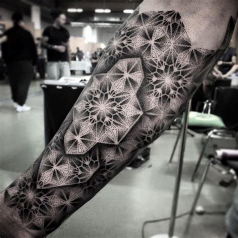 geometric dotwork tattoo designs stunning geometric dotwork forearm best