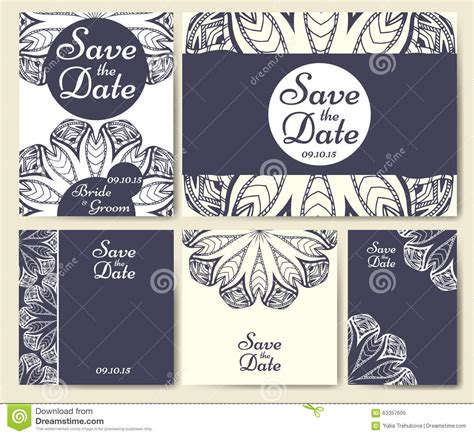 Individual Wedding Invitations by Set Of Wedding Invitations Wedding Cards Template With