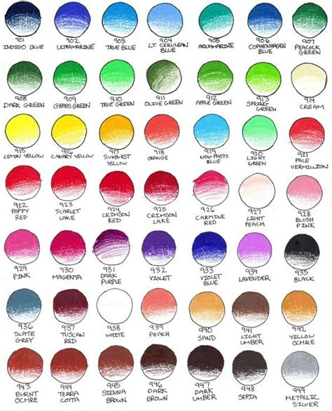 prismacolor color chart prismacolor color charts and charts on