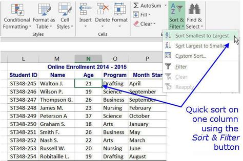 excel sort multiple columns individually sort a row in 6 ways to sort data in excel
