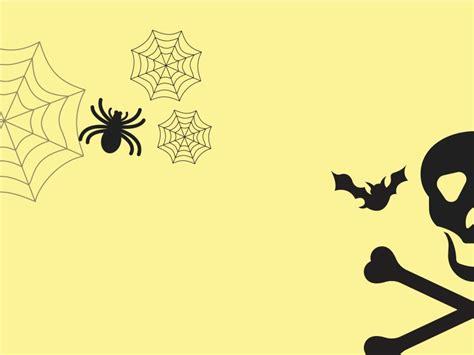 halloween powerpoint templates arts black yellow