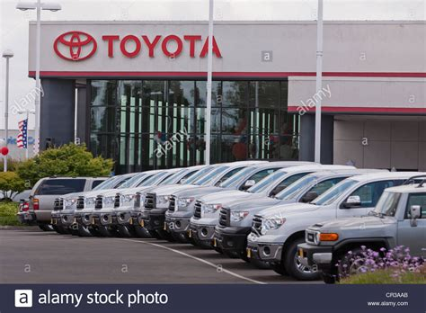 toyota trucks usa toyota truck dealership sales lot california usa stock