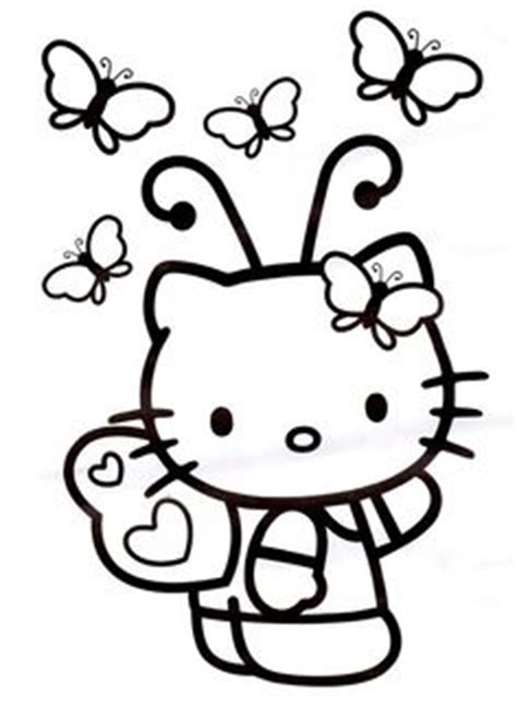 Hello Kitty Butterfly Coloring Pages | hello kitty coloring pages on pinterest hello kitty
