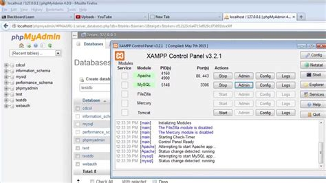 php tutorial yt connect to mysql with php in xampp create a new database