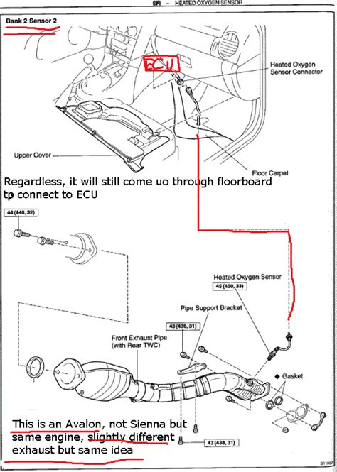 toyota bank 2004 toyota sienna bank 2 sensor 1 location wiring