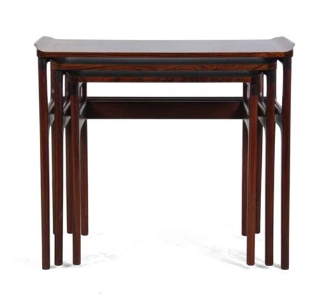 Danica Furniture by Three Rosewood Nesting Tables By Domus Danica For Sale At 1stdibs