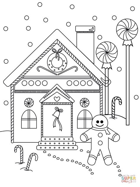 gingerbread man house coloring pages easy printable gingerbread house coloring pages for