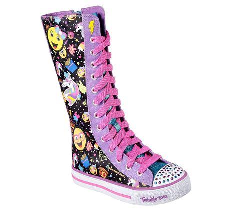skechers knee high sneakers skechers twinkle toes shuffles chattin up in multiblack