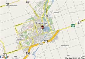 peterborough canada map map of inn peterborough waterfront peterborough