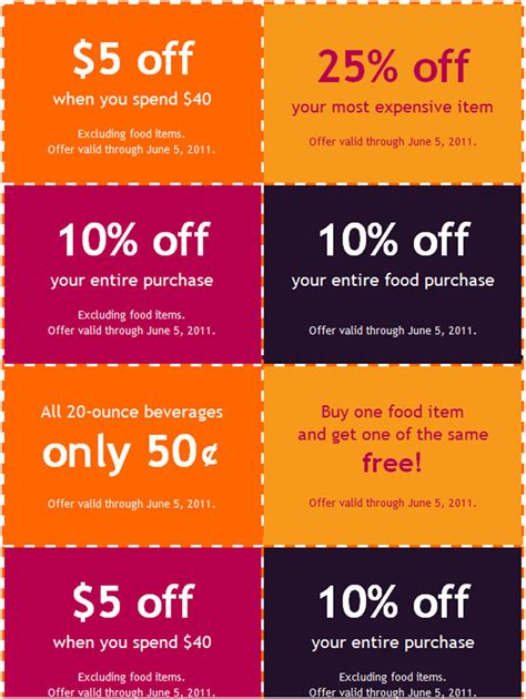 coupon book templates free psd vector eps format