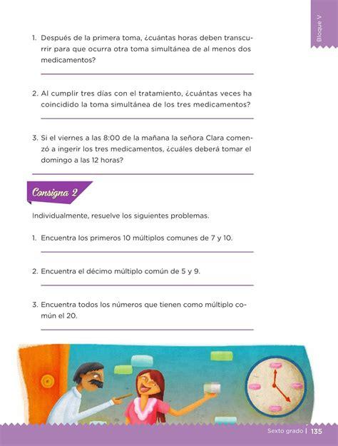 Libro De Desafios Matematicos Pagina 134 Y 135 De Sexto | desaf 237 os matem 225 ticos libro para el alumno sexto grado 2016