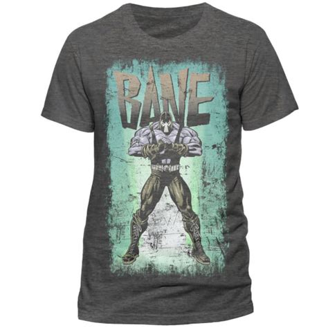 Bane 16 T Shirt Size M dc comics s batman retro bane t shirt grey