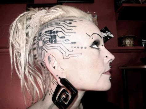 cyberpunk tattoo make up inspiration mass ex 2014