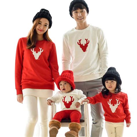 2017 christmas family look deer mommy and me clothes matching family clothing sets mother