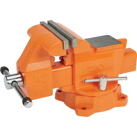pony industrial bench vise 5in jaw opening automotive