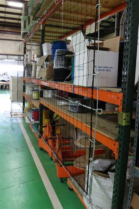 Pallet Rack Netting by Rack Safety Netting Systems For Pallet Racks