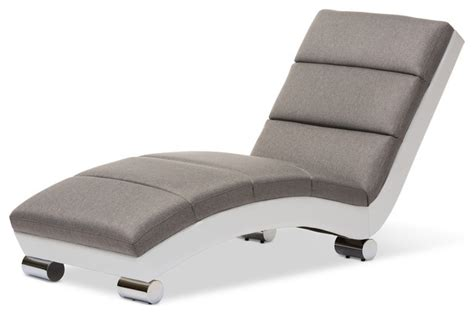 white leather chaise lounge indoor percy upholstered chaise lounge gray fabric and white