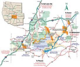 southern utah national parks map mahem