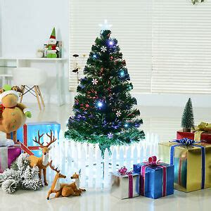 home and gardens prelit trees indoor pre lit fiber optic tree lights home d 233 cor snowflak ebay