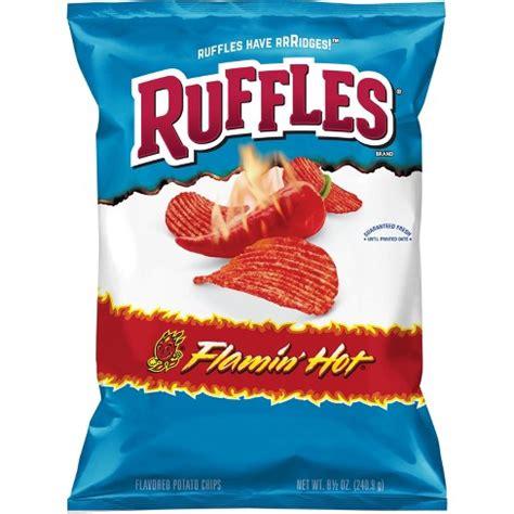 hot chips items ruffles flaming hot potato chips 8 5oz target