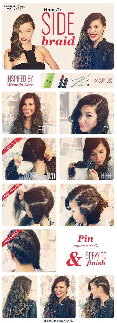 edgy hairstyles step by step miranda kerr wavy side braid tutorial wavy hairstyles