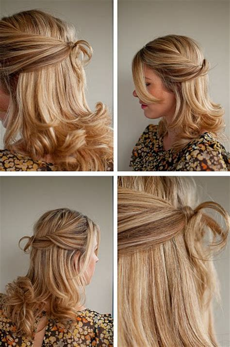 easy hairstyles for hair down half up and half down for weddings cool easy hairstyles